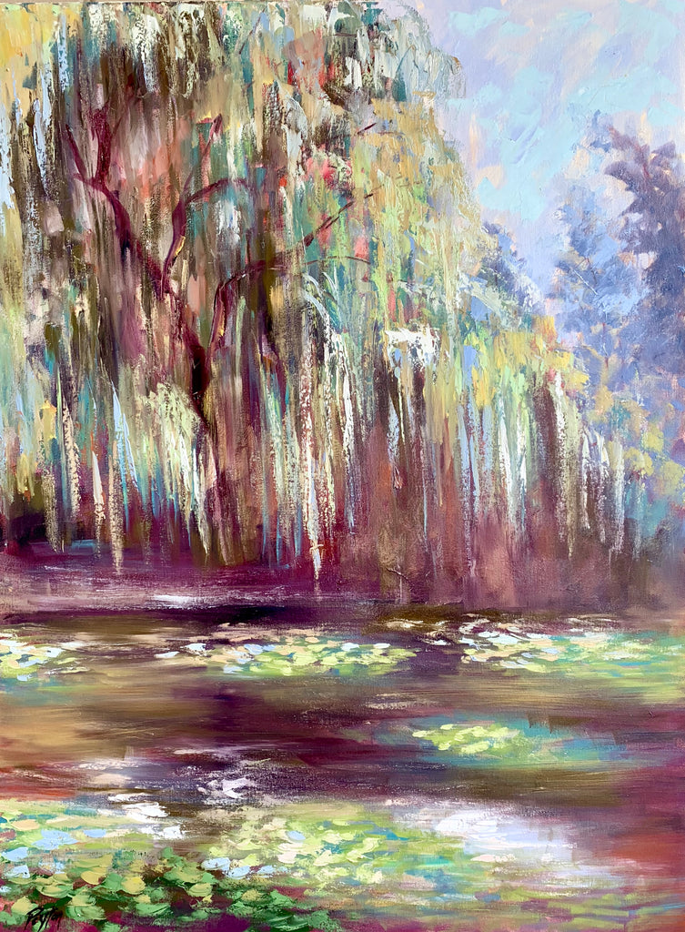 Monet's Willow Trees, Size 41 x 31