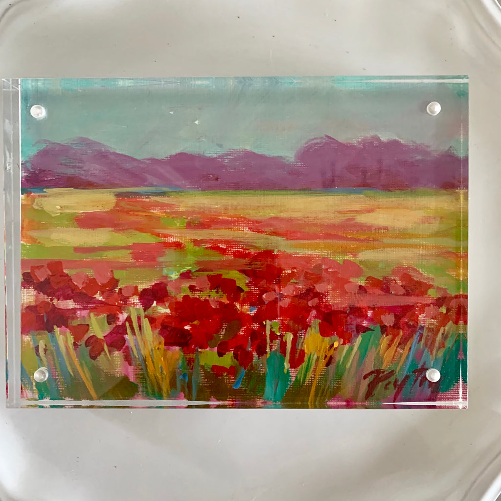 Red Poppies, Size 5 x 7