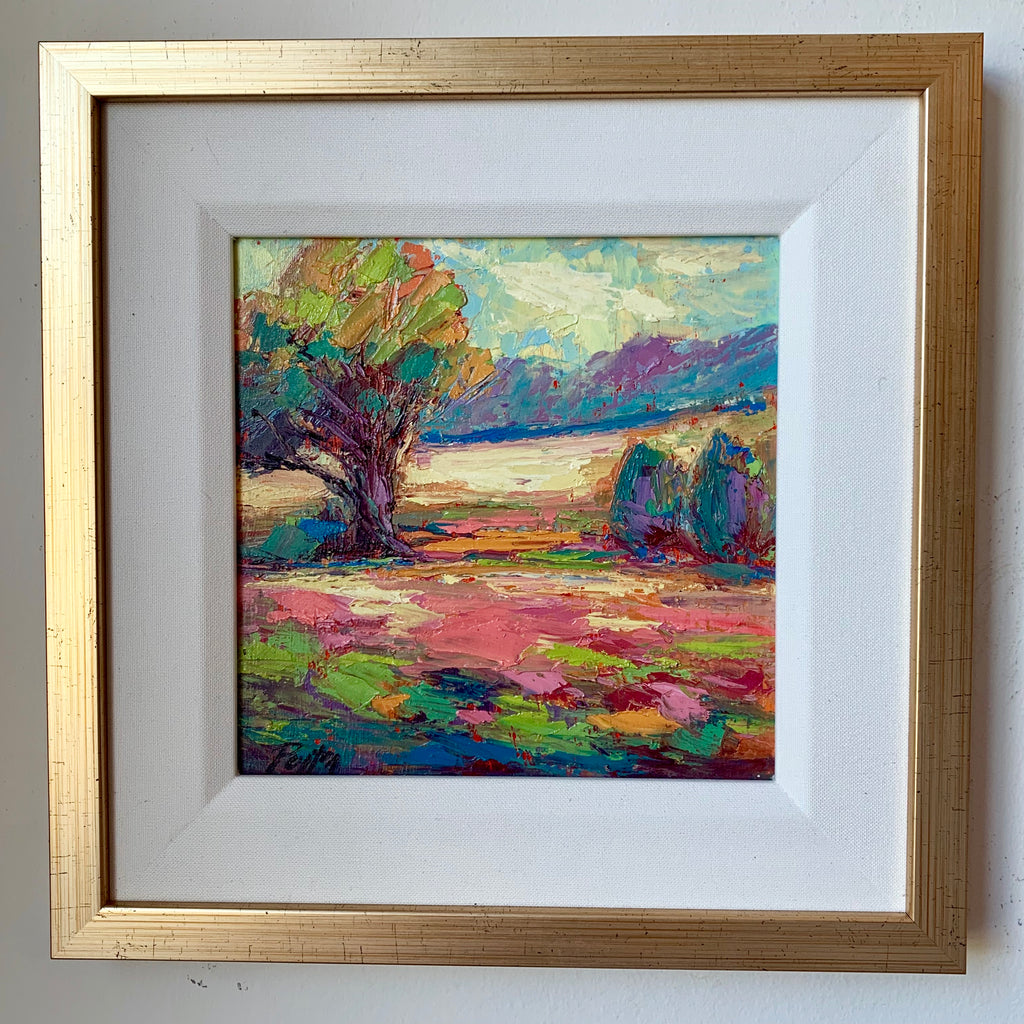 Fields of Pink, Size 12 x 12