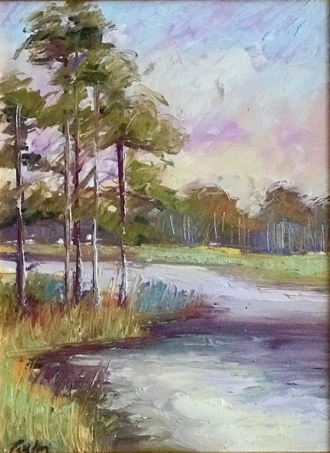 Western Lake, Size 12 x 9, Available at the Caron Gallery