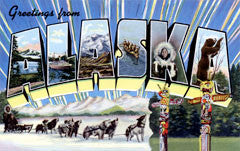 Greetings from Alaska Postcards