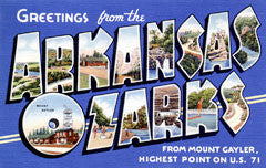 Greetings from Arkansas Ozarks Arkansas