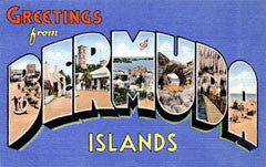 Greetings from Bermuda Islands Postcards