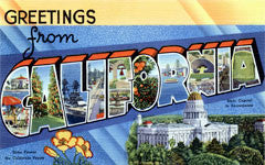Greetings from California Postcards