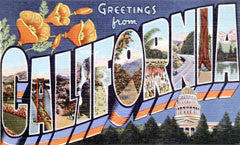 Greetings from california postcards retroamerica greetings from california m4hsunfo Gallery