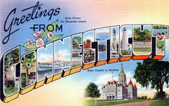 Greetings from Connecticut Postcards