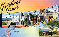Greetings from Delaware Postcards