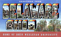 Greetings from Delaware Ohio