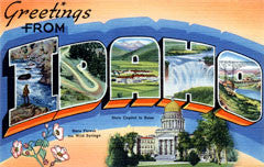 Greetings from Idaho Postcards