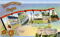 Greetings from Indiana Postcards