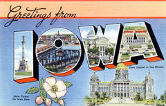 Greetings from Iowa Postcards