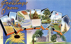 Greetings from Kansas Postcards