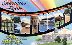 Greetings from Kentucky Postcards