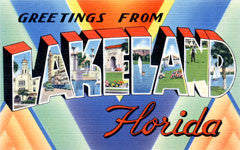 Greetings from Lakeland Florida
