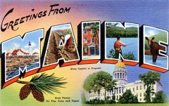 Greetings from Maine Postcards