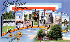 Greetings from Maryland Postcards