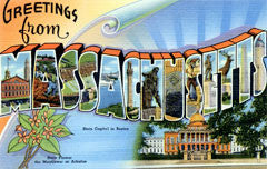 Greetings from Massachusetts Postcards