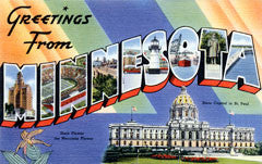 Greetings from Minnesota Postcards