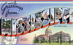 Greetings from Mississippi Postcards