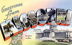 Greetings from Missouri Postcards