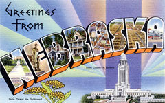 Greetings from Nebraska Postcards