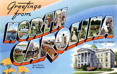 Greetings from North Carolina Postcards