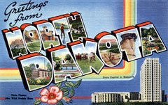 Greetings from North Dakota Postcards