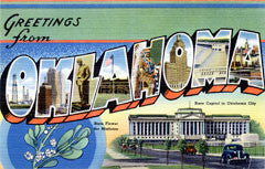 Greetings from Oklahoma Postcards