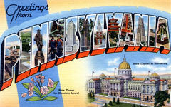 Greetings from Pennsylvania Postcards