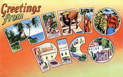 Greetings from Puerto Rico Postcards