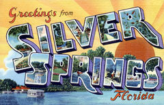 Greetings from Silver Springs Florida