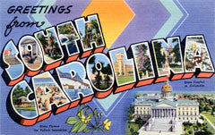Greetings from South Carolina Postcards