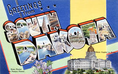 Greetings from South Dakota Postcards