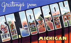 Greetings from St Joseph Michigan