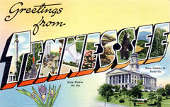 Greetings from Tennessee Postcards
