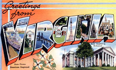 Greetings from Virginia Postcards