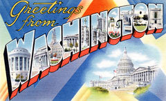 Greetings from Washington DC Postcards
