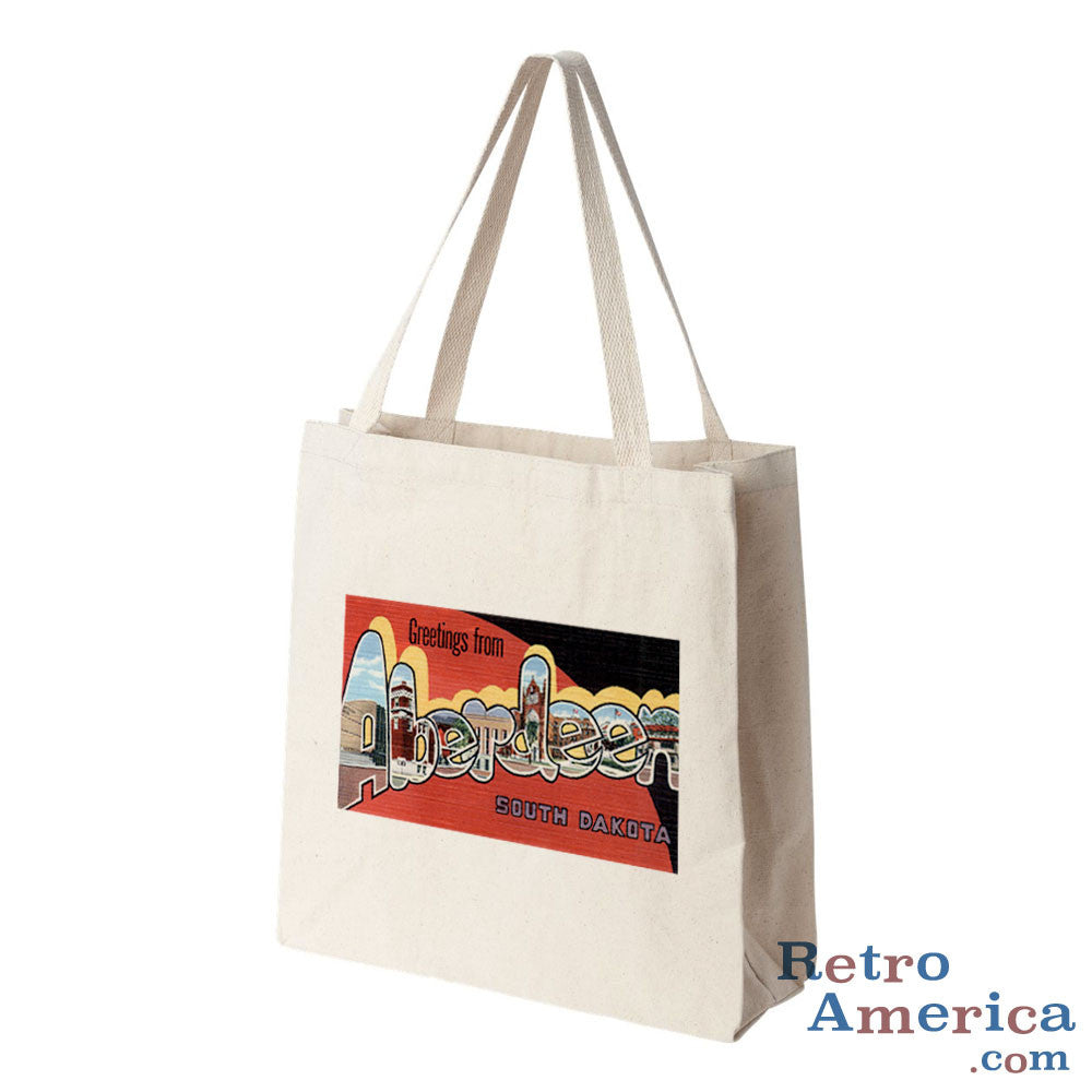 Greetings from Aberdeen South Dakota SD Postcard Tote Bag