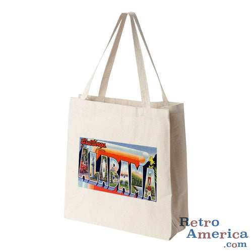Greetings from Alabama AL 2 Postcard Tote Bag