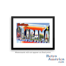 Greetings from Alabama AL 2 Postcard Framed Wall Art