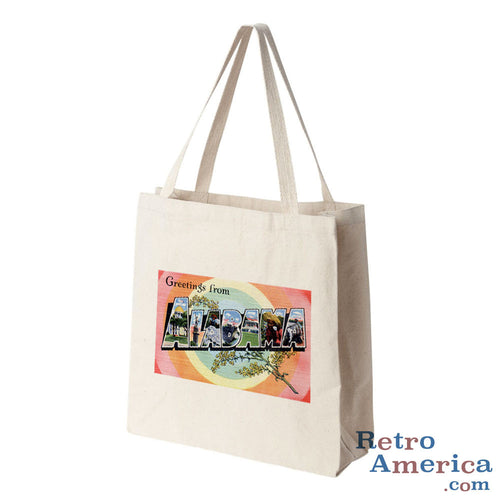 Greetings from Alabama AL 3 Postcard Tote Bag