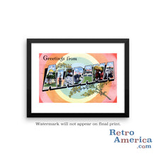 Greetings from Alabama AL 3 Postcard Framed Wall Art