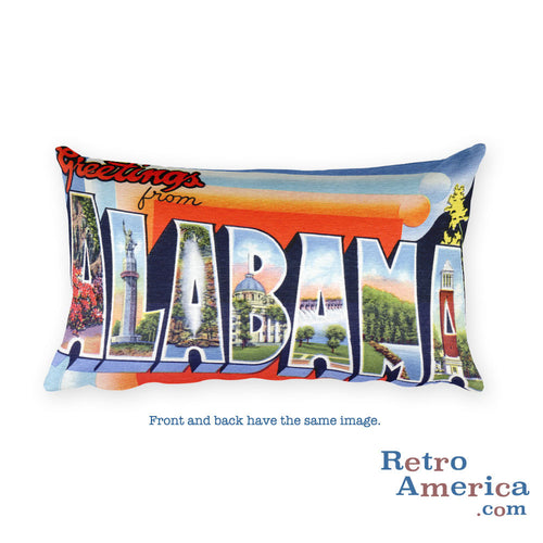 Greetings from Alabama Throw Pillow 2