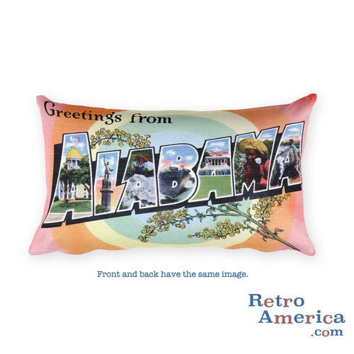 Greetings from Alabama Throw Pillow 3