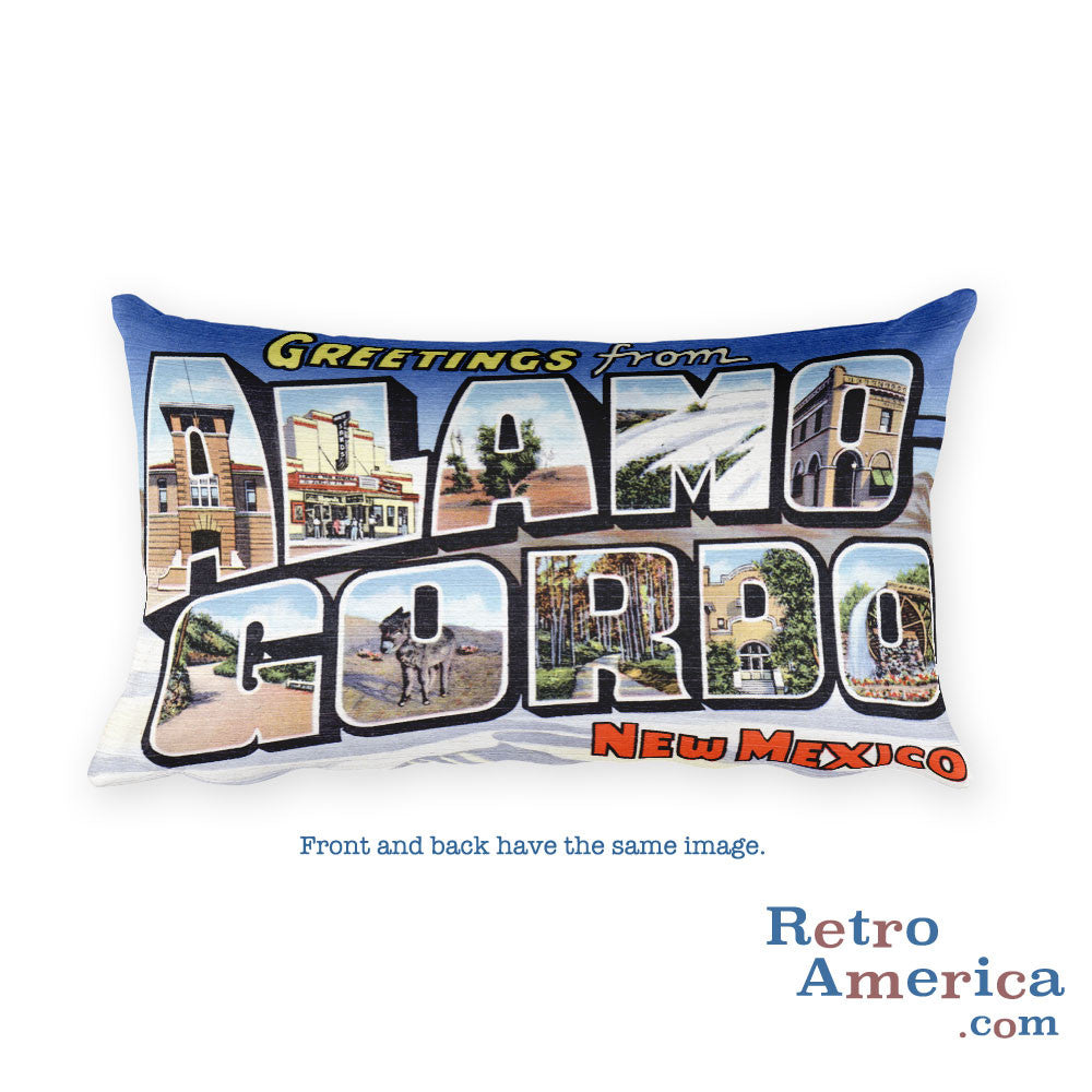 Greetings from Alamogordo New Mexico Throw Pillow