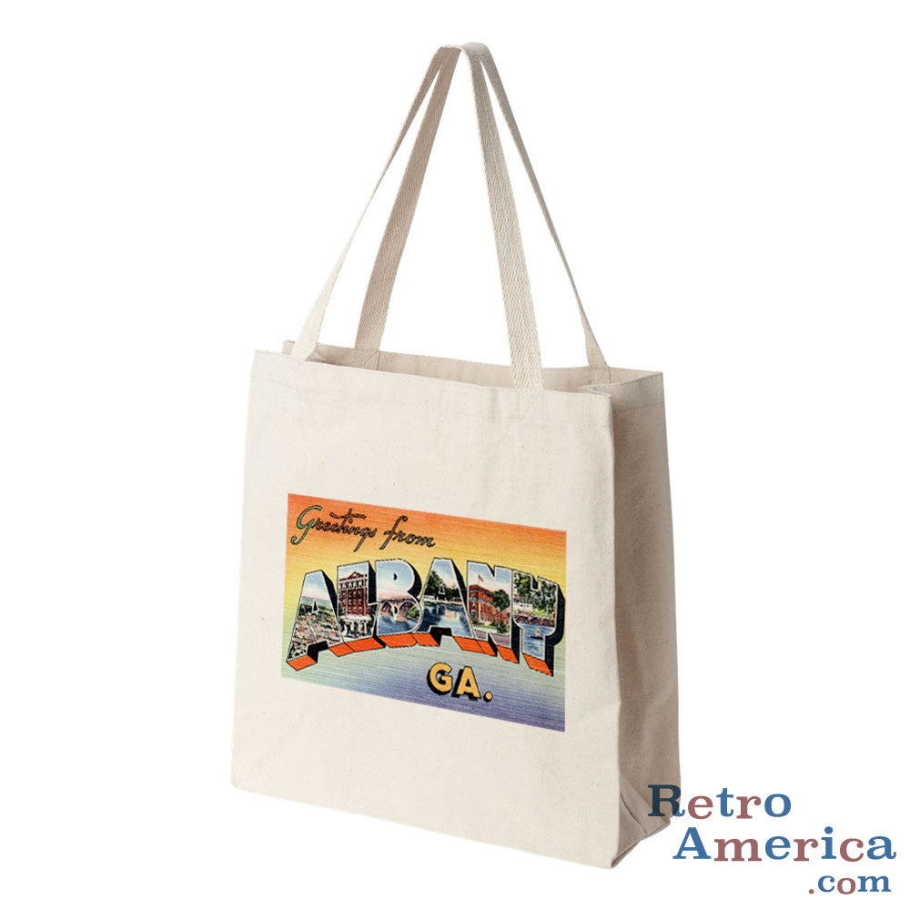 Greetings from Albany Georgia GA Postcard Tote Bag