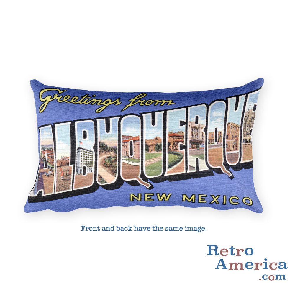 Greetings from Albuquerque New Mexico Throw Pillow