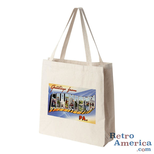 Greetings from Allentown Pennsylvania PA Postcard Tote Bag