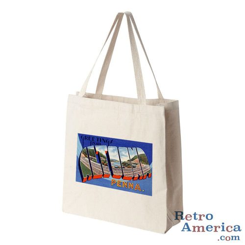 Greetings from Altoona Pennsylvania PA Postcard Tote Bag