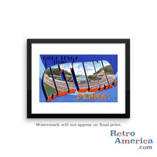 Greetings from Altoona Pennsylvania PA Postcard Framed Wall Art